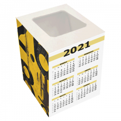 Calendario cubo portalapices